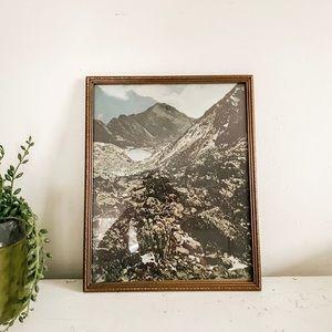 Vintage mountain print